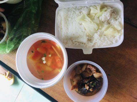 A Vietnamese meal.