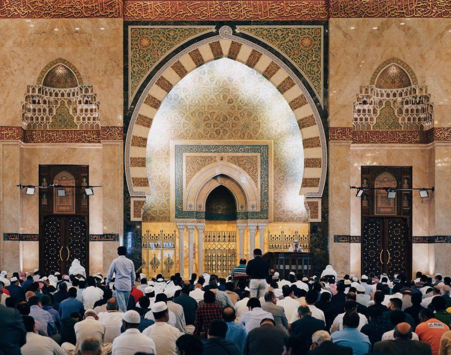 A mosque during Ramadan.