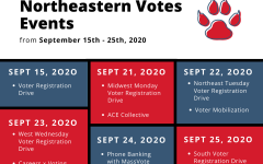 A list of Northeastern  Votes events. The Northeastern Votes initiative was created by Rhea Tipnis, a second-year business administration major from India